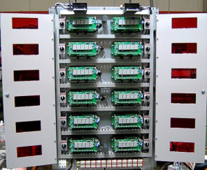 Armoire électrique comprenant 12 afficheurs pour capteurs réfrigérants atmosphériques