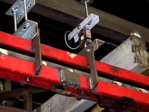 Capteur traction et compression HF70 installé dans une ligne de pesage mobile