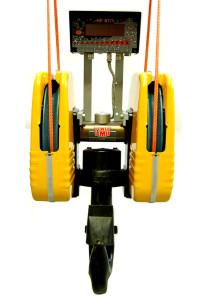 Crochet de levage avec dispositif de pesage intégré