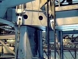Tourillon dynamométrique installé sur pont roulant 150 Tonnes