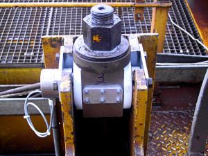 Tourillon dynamométrique installé sur un portique en aciérie